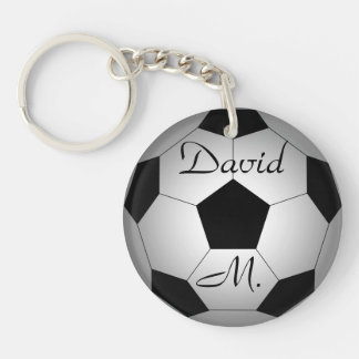 Soccer ball, personalized key ring