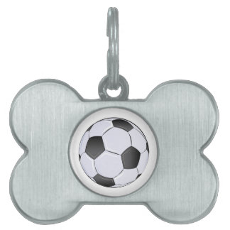 Soccer Ball Pet Name Tag