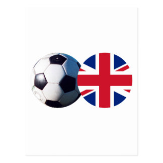 Soccer Ball UK Flag The MUSEUM Zazzle Post Card