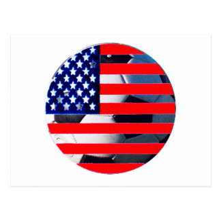 Soccer Ball USA Flag2 The MUSEUM Zazzle Post Cards