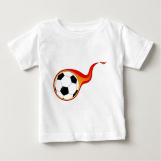 Soccer Ball with Flames Baby T-Shirt