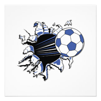 Soccer Burst T-shirts and Gifts Custom Announcement