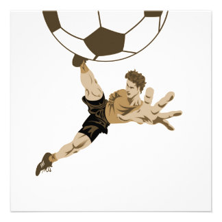 Soccer Close Up T-shirts and Gifts Custom Invites