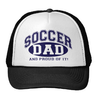 Soccer Dad and proud of it! - Navy Blue Mesh Hat