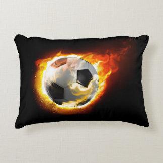 Soccer Fire Ball Accent Pillow