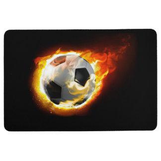 Soccer Fire Ball Floor Mat