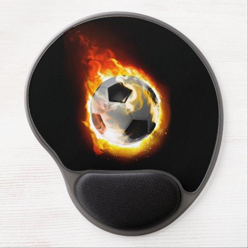 Soccer Fire Ball Gel Mousepad