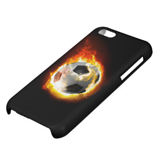 Soccer Fire Ball Glossy iPhone 5C Case