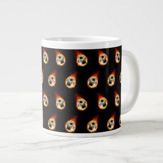 Soccer Fire Ball Jumbo Mug