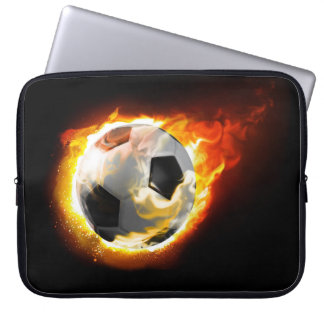 Soccer Fire Ball Laptop Sleeve