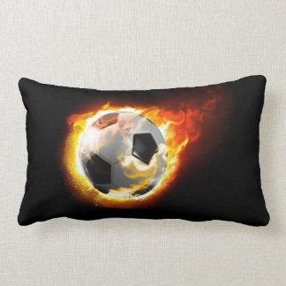 Soccer Fire Ball Lumbar Pillow