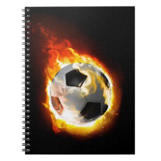 Soccer Fire Ball Notebook
