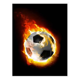 Soccer Fire Ball Postcard