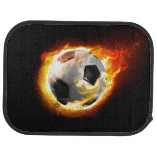 Soccer Fire Ball Rear Car Mat