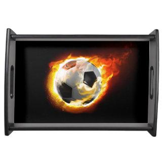 Soccer Fire Ball Serving Tray