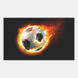 Soccer Fire Ball Stickers