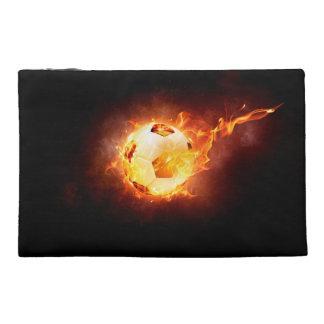 Soccer, Football, Ball under Fire Travel Accessory Bag