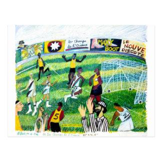 Soccer Game Postcard