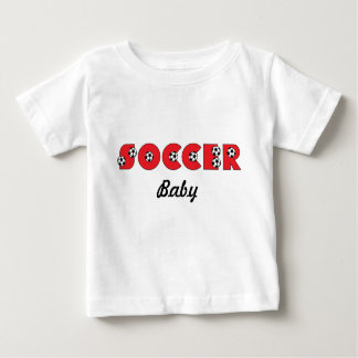 Soccer in Red Baby T-Shirt