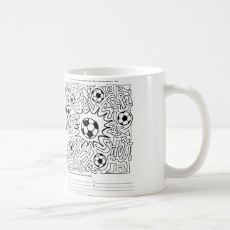 Soccer Maze Activity on a Cup