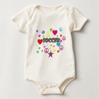 Soccer Mixed Graphics Baby Bodysuit