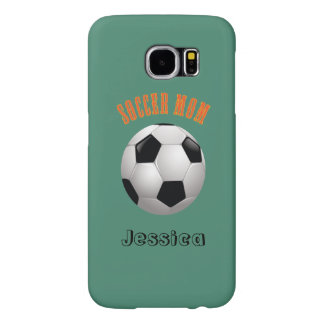 Soccer Mom Name Monogram Samsung Galaxy S6 Cases