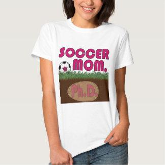 Soccer Mom PhD (Pink-Bauhs) T-shirt