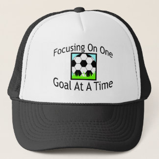 Soccer One Goal At A Time Trucker Hat