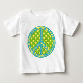 Soccer Peace Sign Frame Baby T-Shirt