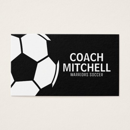 Soccer Pro Black Business Card