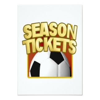 Soccer Season Tickets Card