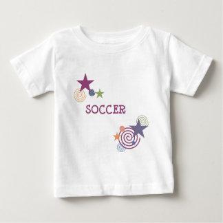 Soccer Swirls and Stars Baby T-Shirt
