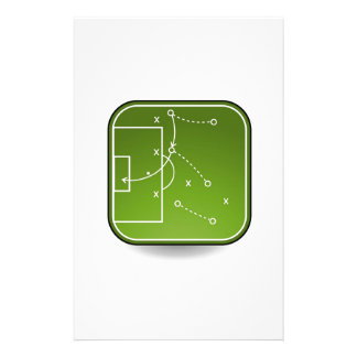 Soccer tactics board stationery