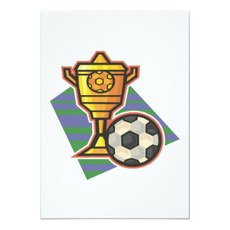 Soccer Trophy 5x7 Paper Invitation Card