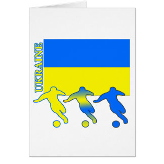 Soccer Ukraine Card