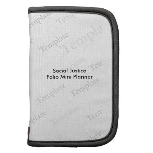 Social Justice Folio Mini Planner