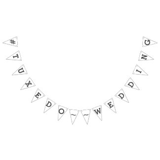 Social Media Wedding Hashtag Bunting Bunting