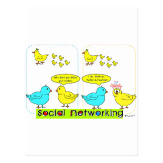 Social Networking Post Cards