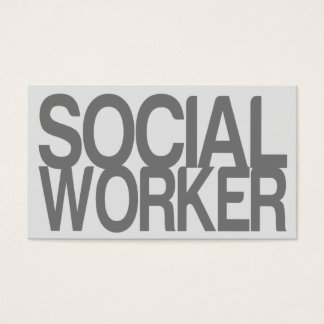 Social Worker in Silver Business Card