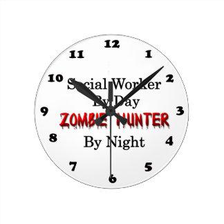 Social Worker/Zombie Hunter Round Clock