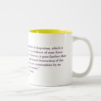 """""""Socialism is the phantastic younger brother of... Two-Tone Mug"""