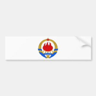 Socialist Federal Republic of Yugoslavia Emblem Bumper Sticker
