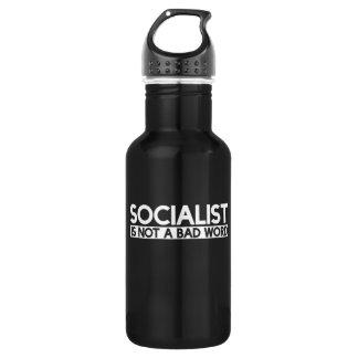 Socialist is not a bad word 532 ml water bottle