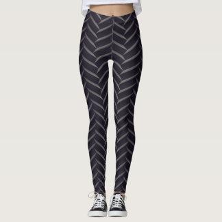 Socialite Modern Herringbone Pattern Leggings