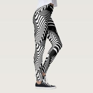 Socialite Wild & Crazy Black White Pattern Leggings
