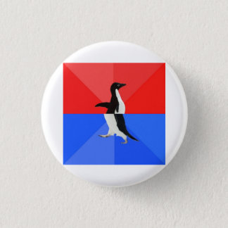 Socially Confused Penguin Advice Animal Meme 3 Cm Round Badge