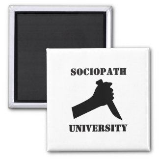 Sociopath University Square Magnet