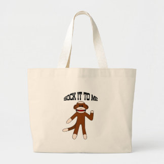 Sock It To Me Sock Monkey Tote Bag