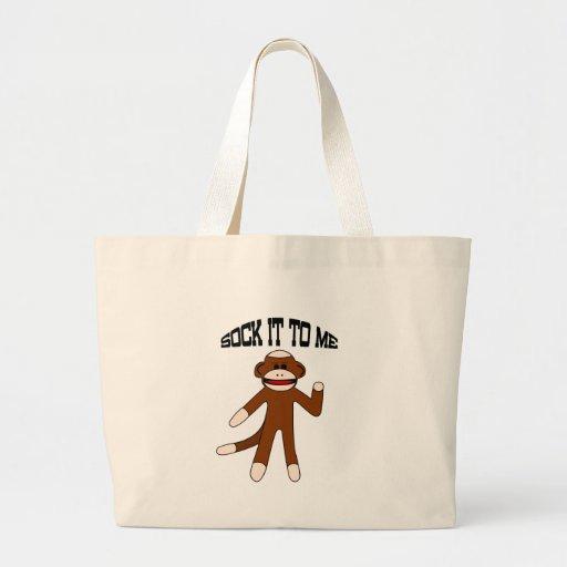 Sock It To Me Sock Monkey Tote Bag