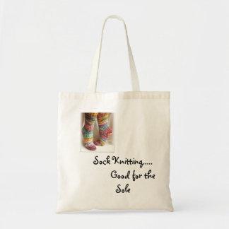 Sock Knitting Tote Bag